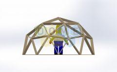 Каркас купола (геодезический гудкарма) 2V D4.5м 1/2ч