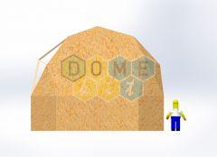 Комплект купола №02: 2V D8м 1/2ч 2.0м каркас купола и райзера (геодезический гудкарма) и внешняя обшивка