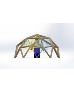 Каркас купола (геодезический гудкарма) 2V D4м 1/2ч