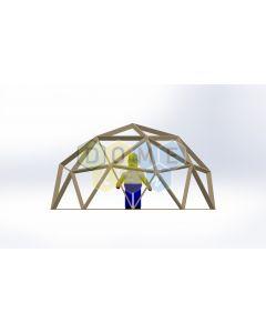 Каркас купола (геодезический гудкарма) 2V D5.5м 1/2ч