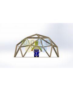 Каркас купола (геодезический гудкарма) 2V D5м 1/2ч