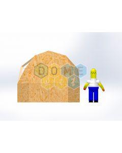 Комплект купола №02: 2V D3.5м 1/2ч 1.0м каркас купола и райзера (геодезический гудкарма) и внешняя обшивка