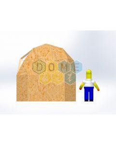 Комплект купола №02: 2V D3.5м 1/2ч 1.5м каркас купола и райзера (геодезический гудкарма) и внешняя обшивка