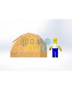 Комплект купола №02: 2V D3.5м 1/2ч 0.5м каркас купола и райзера (геодезический гудкарма) и внешняя обшивка