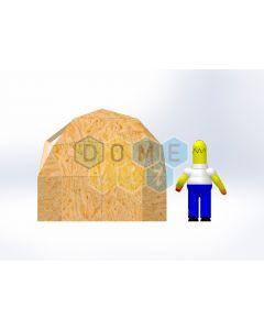 Комплект купола №02:  2V D3м 1/2ч 1м каркас купола и райзера (геодезический гудкарма) и внешняя обшивка