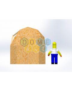 Комплект купола №02: 2V D3м 1/2ч 1.5м каркас купола и райзера (геодезический гудкарма) и внешняя обшивка