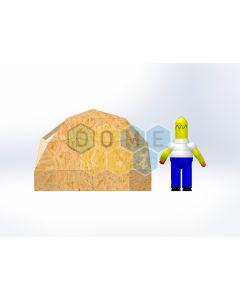 Комплект купола №02: 2V D3м 1/2ч 0.5м каркас купола и райзера (геодезический гудкарма) и внешняя обшивка