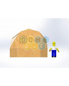 Комплект купола №02: 2V D4.5м 1/2ч 1.0м каркас купола и райзера (геодезический гудкарма) и внешняя обшивка