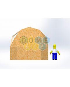 Комплект купола №02: 2V D4.5м 1/2ч 1.5м каркас купола и райзера (геодезический гудкарма) и внешняя обшивка