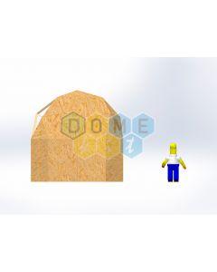 Комплект купола №02: 2V D4.5м 1/2ч 2.0м каркас купола и райзера (геодезический гудкарма) и внешняя обшивка