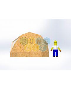 Комплект купола №02: 2V D4.5м 1/2ч 0.5м каркас купола и райзера (геодезический гудкарма) и внешняя обшивка