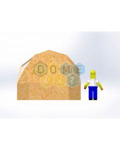 Комплект купола №02: 2V D4м 1/2ч 1.0м каркас купола и райзера (геодезический гудкарма) и внешняя обшивка