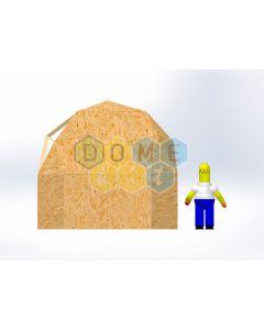 Комплект купола №02: 2V D4м 1/2ч 1.5м каркас купола и райзера (геодезический гудкарма) и внешняя обшивка