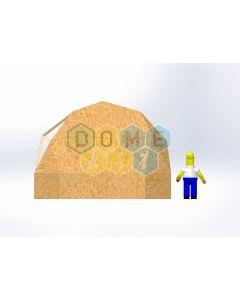 Комплект купола №02: 2V D5.5м 1/2ч 1.0м каркас купола и райзера (геодезический гудкарма) и внешняя обшивка