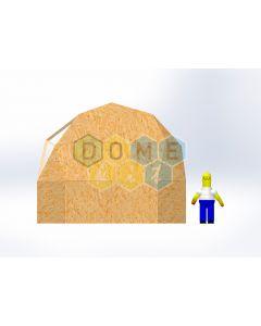 Комплект купола №02: 2V D5.5м 1/2ч 1.5м каркас купола и райзера (геодезический гудкарма) и внешняя обшивка
