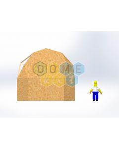 Комплект купола №02: 2V D5.5м 1/2ч 2.0м каркас купола и райзера (геодезический гудкарма) и внешняя обшивка