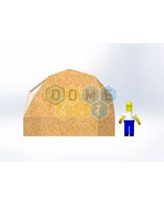 Комплект купола №02: 2V D5м 1/2ч 1.0м каркас купола и райзера (геодезический гудкарма) и внешняя обшивка