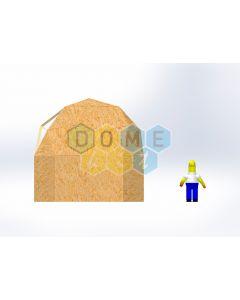 Комплект купола №02: 2V D5м 1/2ч 2.0м каркас купола и райзера (геодезический гудкарма) и внешняя обшивка