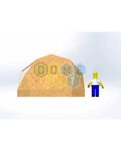 Комплект купола №02: 2V D5м 1/2ч 0.5м каркас купола и райзера (геодезический гудкарма) и внешняя обшивка