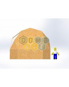 Комплект купола №02: 2V D6.5м 1/2ч 1.5м каркас купола и райзера (геодезический гудкарма) и внешняя обшивка