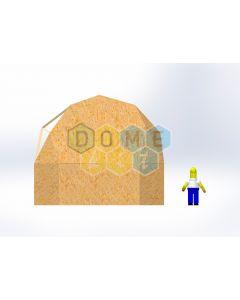 Комплект купола №02: 2V D6.5м 1/2ч 2.0м каркас купола и райзера (геодезический гудкарма) и внешняя обшивка