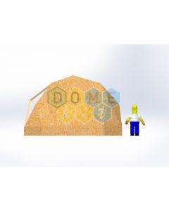 Комплект купола №02: 2V D6м 1/2ч 0.5м каркас купола и райзера (геодезический гудкарма) и внешняя обшивка