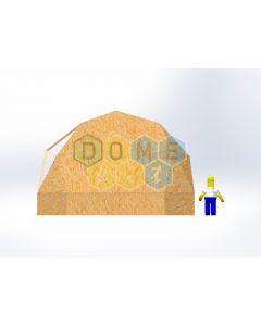 Комплект купола №02: 2V D7.5м 1/2ч 1.0м каркас купола и райзера (геодезический гудкарма) и внешняя обшивка