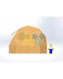 Комплект купола №02: 2V D7.5м 1/2ч 1.5м каркас купола и райзера (геодезический гудкарма) и внешняя обшивка
