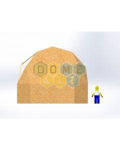 Комплект купола №02: 2V D7.5м 1/2ч 2.0м каркас купола и райзера (геодезический гудкарма) и внешняя обшивка