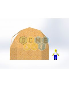 Комплект купола №02: 2V D7м 1/2ч 2.0м каркас купола и райзера (геодезический гудкарма) и внешняя обшивка